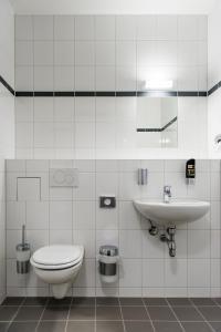Een badkamer bij a&o Copenhagen Nørrebro