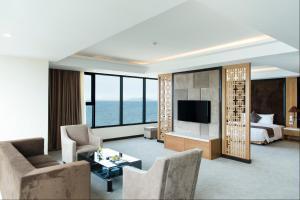 Zona de estar de Muong Thanh Luxury Da Nang Hotel