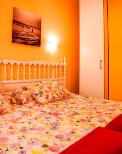 Cama o camas de una habitación en Playa De Arnadal Isla