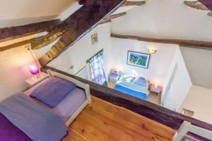 Cama o camas de una habitación en Apartments Galerija Motovun