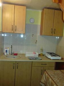 A kitchen or kitchenette at Otdykh na Kurshskoy Kose