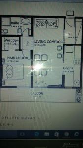 El plano del piso de Dunas I, 3