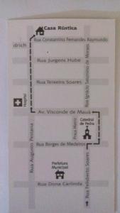 The floor plan of Casa Rústica - Hospedaria