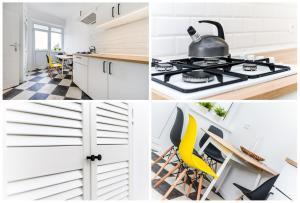 Kuchnia lub aneks kuchenny w obiekcie MW Apartamenty - Gdynia Świętojańska