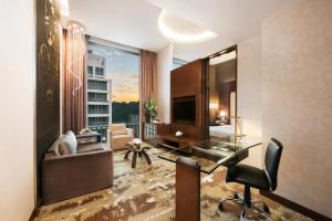 A television and/or entertainment center at Park Hotel Clarke Quay (SG Clean)
