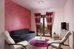 Χώρος καθιστικού στο Myriam Spa & Luxury Suites