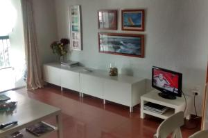 Una televisión o centro de entretenimiento en Marenostrum view