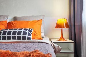 Кровать или кровати в номере Апартаменты Come Inn