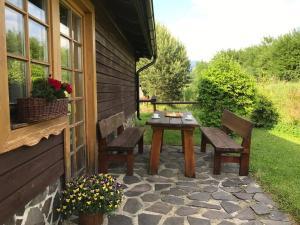 Patio nebo venkovní prostory v ubytování Chatka Tatralandia 114