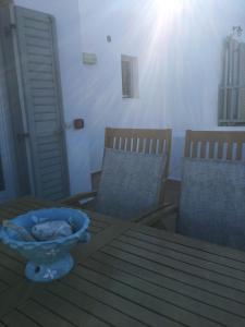 Ein Sitzbereich in der Unterkunft Gaia Serifos Apartments