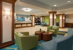 The lobby or reception area at SpringHill Suites by Marriott Tampa Westshore
