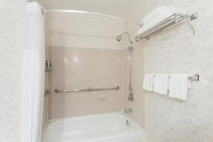 A bathroom at Wyndham Garden Silicon Valley