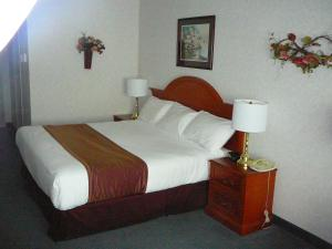 A bed or beds in a room at Coast Abbotsford Hotel & Suites