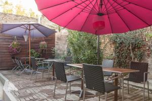 Terrasse ou espace extérieur de l'établissement Logis Auberge La Cremaillere