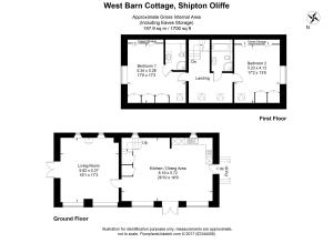 The floor plan of West Barn Cottage