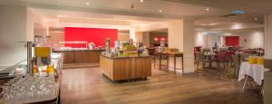 A restaurant or other place to eat at Hilton Leicester Hotel