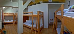 A bunk bed or bunk beds in a room at Hof Märkische Heide