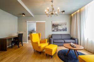 Posezení v ubytování Apartments Bohemia Rhapsody