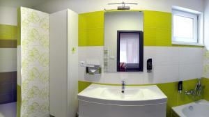Koupelna v ubytování Vila Ajka
