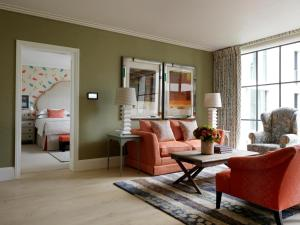 A seating area at Ham Yard Hotel, Firmdale Hotels