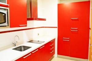 A kitchen or kitchenette at Apartahotel Ribera
