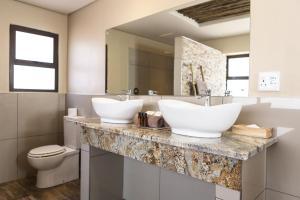 A bathroom at Sossusvlei Lodge