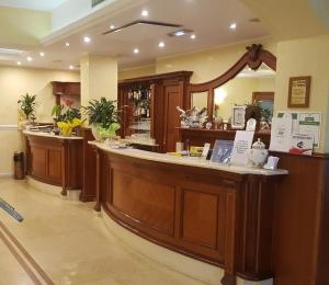 The lobby or reception area at Hotel Corallo