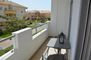 A balcony or terrace at Edificio Falésia Marina 2