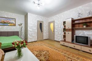 Телевизор и/или развлекательный центр в Apartment on Perevertkina 1/7