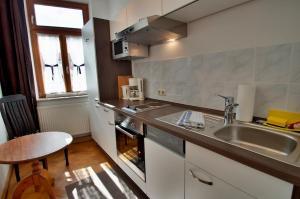 A kitchen or kitchenette at Altstadt Appartements