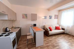 Кухня или мини-кухня в Nine Nights Apartments on Ermaka 10