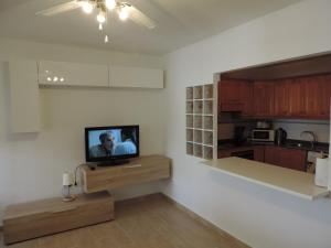 A television and/or entertainment center at Apartamento Blue Turtle