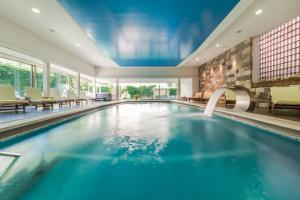 The swimming pool at or near Hotel Adria
