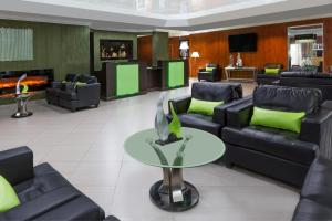 The lobby or reception area at Wyndham Garden San Jose Airport