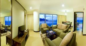 منطقة جلوس في فندق فلامينغو على الشاطئ، بينانغ
