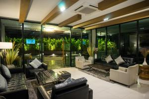 The lobby or reception area at Sanae' Hotel Chiang Mai