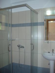 Ett badrum på Villa Kavourakia