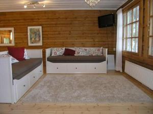 A seating area at Holiday Home Hiekkaranta