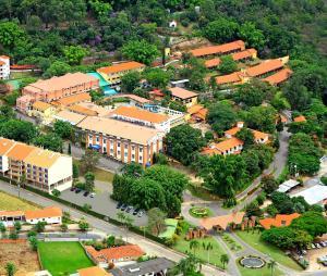 Uma vista aérea de Hotel Fazenda Fonte Colina Verde
