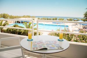 A view of the pool at Kouros Seasight Hotel or nearby