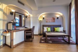 אזור ישיבה ב-Epoque Hotel - Relais & Chateaux