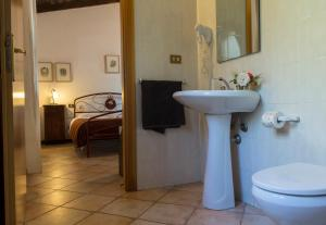 A bathroom at Agriturismo Il Giglio