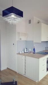 A kitchen or kitchenette at Apartament Młynarska