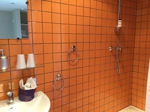 A bathroom at Chambres d'Hôtes Le Nid à Nane