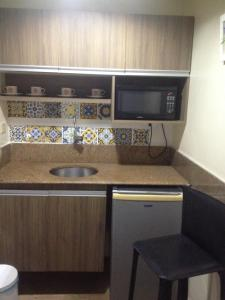 A kitchen or kitchenette at Victory Business Flat