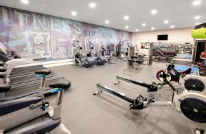 The fitness center and/or fitness facilities at Jurys Inn Hinckley Island