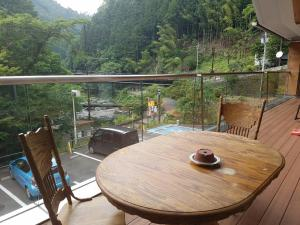 A balcony or terrace at Yadori Onsen Iyashinoyu