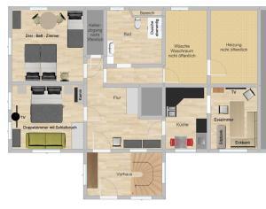 Grundriss der Unterkunft Ferienwohnung-Kubis