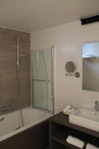 Salle de bains dans l'établissement Hotel Astel