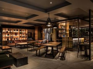 The lounge or bar area at Kyoto Granbell Hotel